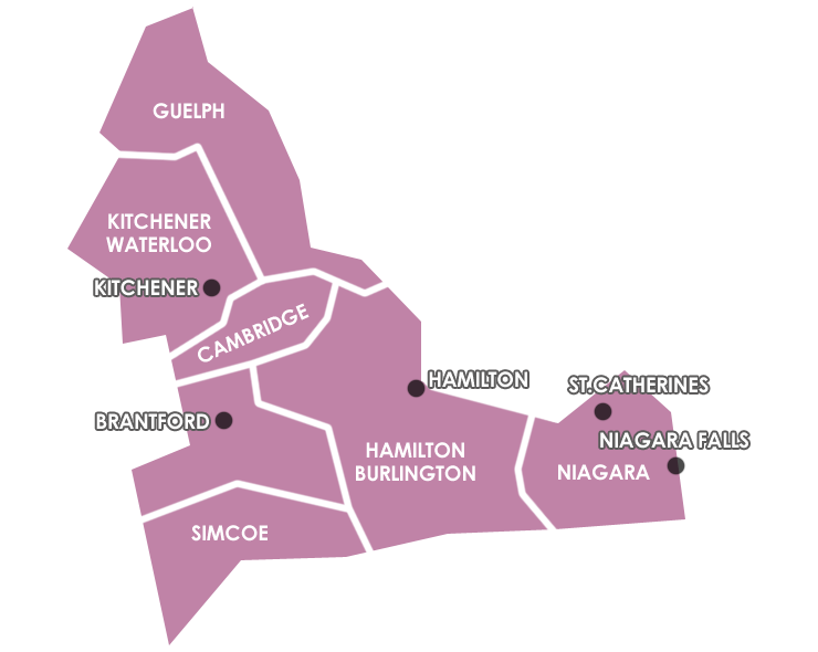 Map of Southern Regions